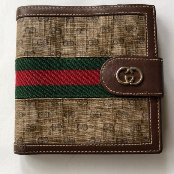 1f34ced513ab Gucci Bags | Vintage Web Gg Brown Classic Bifold Wallet | Poshmark